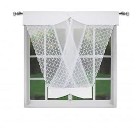 Panel ażurowy biały z kryształkami  120x130cm EMMA