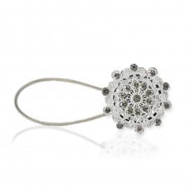 Spinka DIAMONDS do firan i zasłon z kryształkami