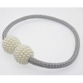 Spinka LORRAINE zdobiona perełkami do upięcia firan i zasłon