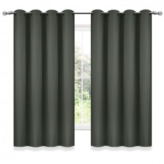Zasłona FELICIA z matowej tkaniny na przelotkach 140x160cm - Nie Tylko Firany