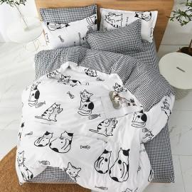 Komplet pościeli HAPPY CAT FAMILY  200x220cm