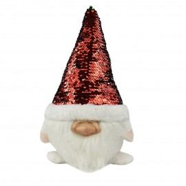 Dekoracja świąteczna cekinowy czerwony ost. SKRZAT