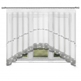 Firana DARLING w łuk z cyrkoniami 300x150cm