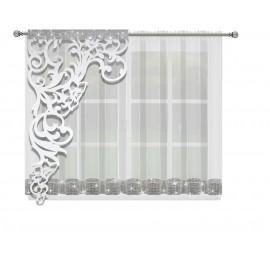 Firana woalowa LISA z panelem 400x145cm