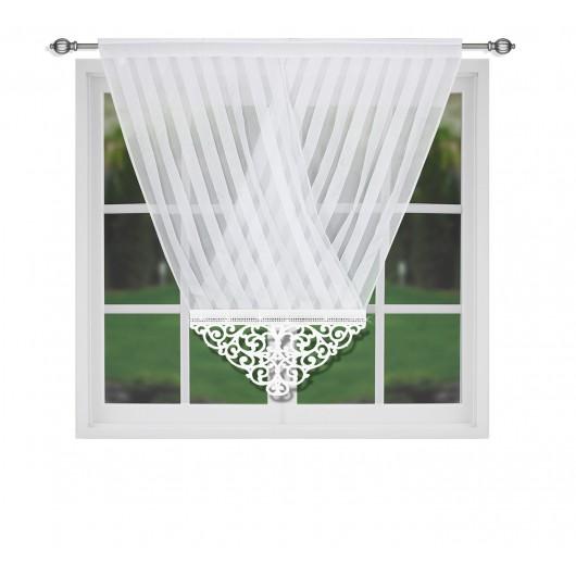 Panel ażurowy biały 120x130cm IVANKA - Nie Tylko Firany