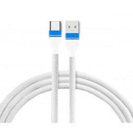 Kabel USB materiałowy - wejście C ost.