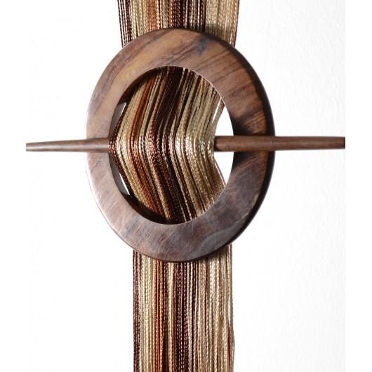 Firana MAKARON stare złoto-jasny brąz-brąz 300x250cm - Nie Tylko Firany