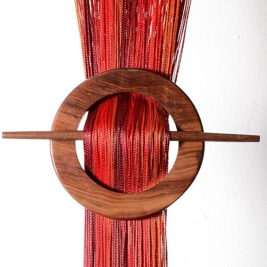 Firana MAKARON czerwony-bordowy-brąz 300x250cm - Nie Tylko Firany