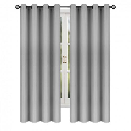 Zasłona zaciemniająca na przelotkach szara 145x250cm GRACIA - Nie Tylko Firany