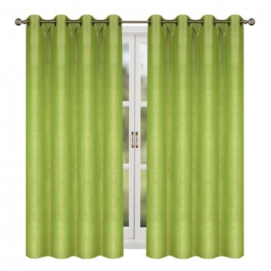 Zasłona z velvetu na przelotkach zielona 145x250cm FELIPA - Nie Tylko Firany