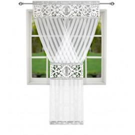 Panel ażurowy biały zdobiony cyrkoniami 120x250cm ARLEY