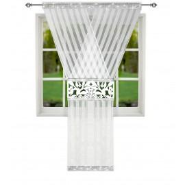 Panel ażurowy biały zdobiony cyrkoniami 120x250cm PALMER