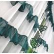Komplet firan z woalu butelkowa zieleń 400x160cm MARTHE - Nie Tylko Firany