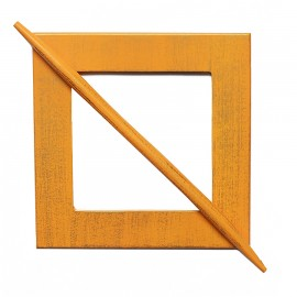 Drewniana klamra do upięcia zasłon lub firan pomarańczowa OLIVE ost.