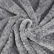 Miękki koc z mikrofibry szary 160x200cm RICKY - Nie Tylko Firany