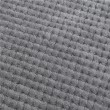 Miękki koc z mikrofibry szary 200x220cm RICKY - Nie Tylko Firany