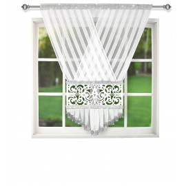 Panel dekoracyjny z ażurem biały 120x150cm FAYE