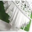 Panel dekoracyjny z ażurem biały 120x150cm FAYE - Nie Tylko Firany