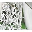 Zestaw dekoracyjny firana z panelem ażurowym biały 160x150cm TERRA - Nie Tylko Firany