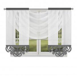 Zestaw paneli ażurowych z kryształkami biały 185x140cm CHLOE ost.