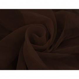 Tkanina - woal gładki w kolorze brązowym o szerokości 300cm