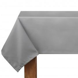 Obrus z matowej tkaniny szary 140x220cm LILY