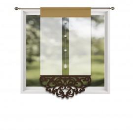 Panel ażurowy z brązowymi dodatkami 60x130cm LOLA