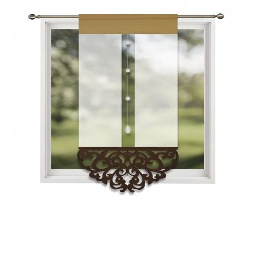 Panel ażurowy z brązowymi dodatkami 60x130cm LOLA - Nie Tylko Firany