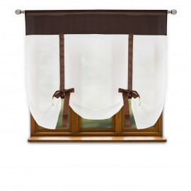 Firana gotowa RUBY z woalu na taśmie 150x150cm ost.