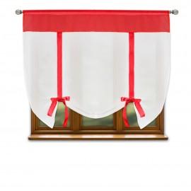 Firana gotowa RUBY z woalu na taśmie 150x150cm