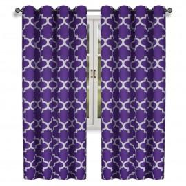 Zasłona fioletowa na przelotkach 145x250cm HANA