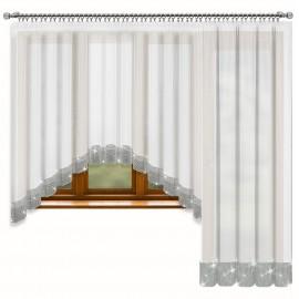Kompet firan balkonowych NAOMI z cyrkoniami 545x250cm
