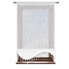 Panel ażurowy z białej markizety z kryształkami 60x120cm JENNIFER