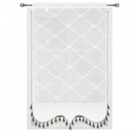 Panel dekoracyjny z batystu biały 60x130cm LAYLA