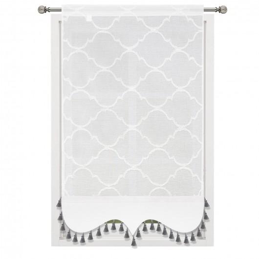 Panel dekoracyjny z batystu biały 60x130cm LAYLA - Nie Tylko Firany