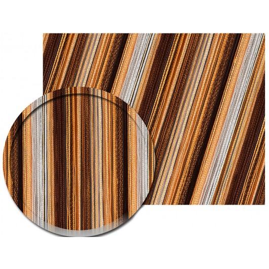 Firana MAKARON brąz-jasny pomarańcz-biały 300x250cm - Nie Tylko Firany