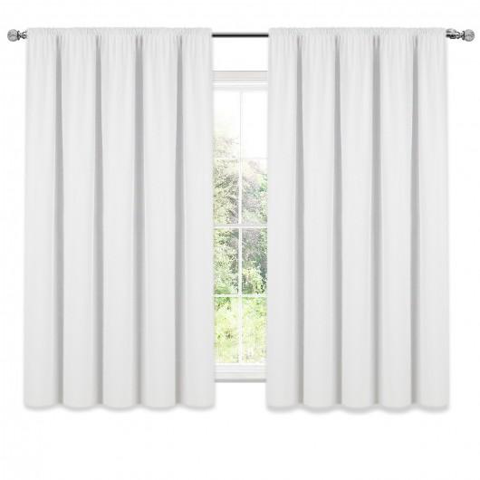 Zasłona z matowej tkaniny biała na taśmie 140x160cm ELODIA - Nie Tylko Firany