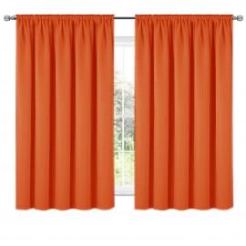 Zasłona z matowej tkaniny pomarańczowa na taśmie 140x160 ELODIA