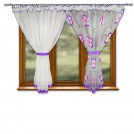 Firana POPPY w kwiaty na taśmie 400x150cm